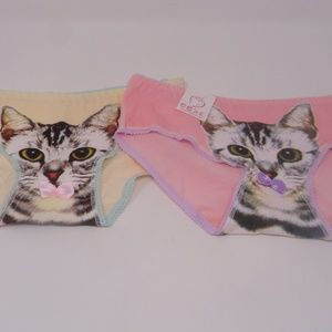 Other - Pussy Cat Panties 2 Pair 95% Cotton Size M/S